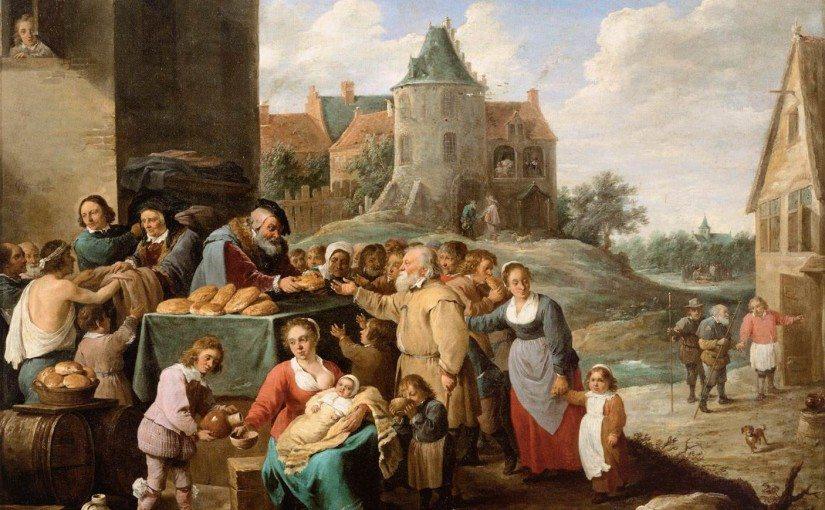The Works of Mercy by David Tenniers via Wikipedia [public domain]