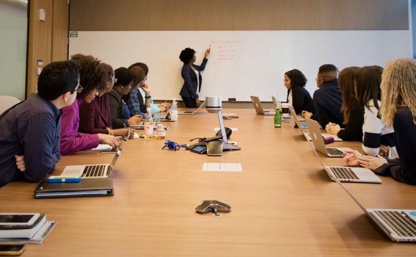 A picture of students in a grad school seminar.