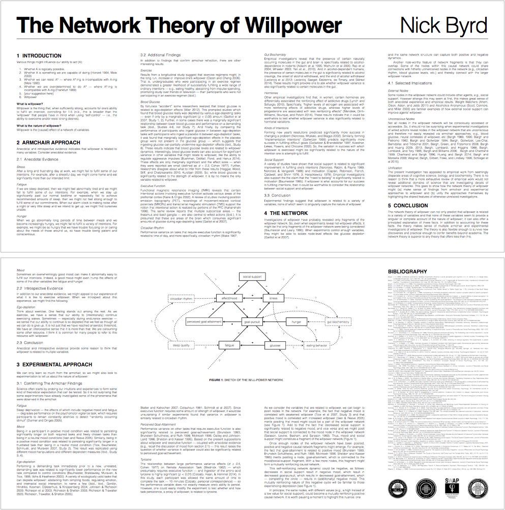 Nick Byrd's Network Account of Willpower Poster