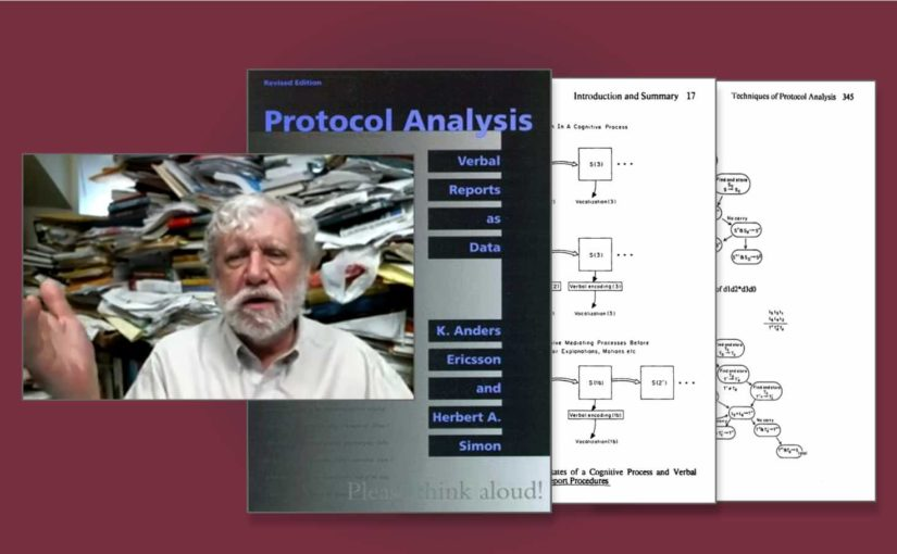 An image of Anders Ericsson and their famous book Protocol Analysis